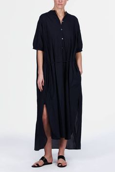 Find a giant shirt dress, take in the sleeves