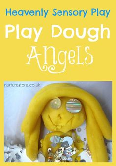 Great Christmas sensory play idea: play dough angels