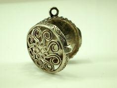 Silver Vinaigrette Charm Pendant - Silver Charm Locket by BelmontandBellamy on Etsy