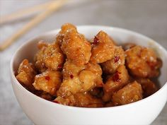 Ree's Orange Chicken is a plateful of lightly fried, sticky-sweet goodness.