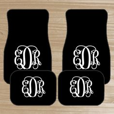 Personalized Car Mats Monogrammed By Thedreamydaisy Truck Accessories Custom