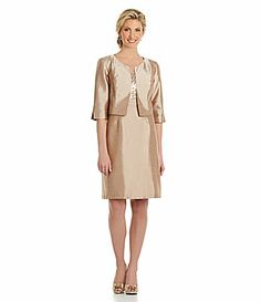 Le Bos Sequined Jacket Dress #Dillards