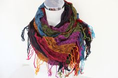 Turkish linen scarf Ethnic Men scarves Color by Nazcolleccolors