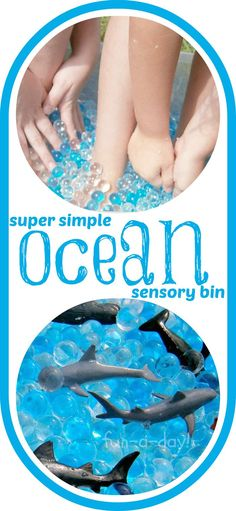 "Super Simple Ocean Sensory Bin -- Despite its ""simple"" appearance, this bin led to hours and hours of sensory fun for preschoolers on up!"