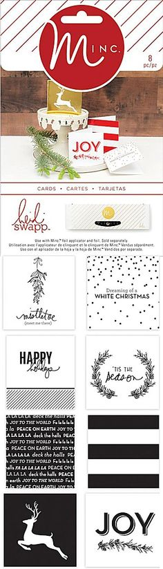 Heidi Swapp - Minc Christmas Mini Gift Cards