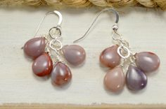 Jasper Earrings. Sterling Silver. Wire by MilionSplendidPearls, $25.00