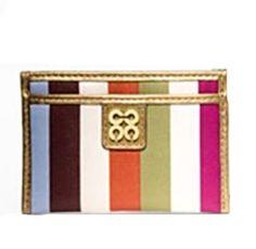 Coach Julia Legacy Stripe Mini Skinny ID Card Case Bag Multi