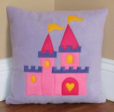 Princess Castle Pillow by My3SillyMonkeys on Etsy, $20.00