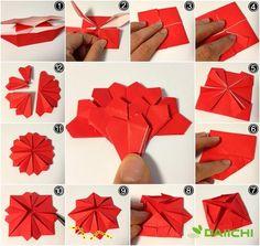 Anyák napja / Tanárok napja szegfű összecsukható, összecsukható egy szegfű konfetti: Naver blog