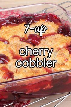 Cake Mix Desserts, Cherry Desserts, Cherry Recipes, Fruit Recipes, Desert Recipes, Easy Desserts, Baking Recipes, Homemade Desserts, Cherry Pie Filling Desserts