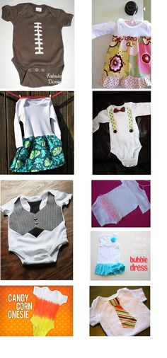 Best Onesie Makeovers on Pinterest - 9 DIY Onesies with tutorials