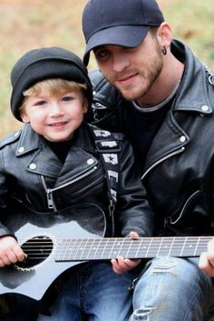 Good looks run in that family... Adorable! Brantley Gilbert with his nephew :) #BGNation