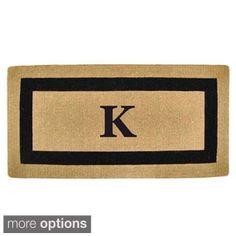 Heavy-duty Coir Single Black Picture Frame Monogrammed Doormat | Overstock.com Shopping - The Best Deals on Door Mats