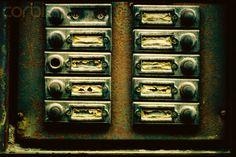 Old apartment doorbells