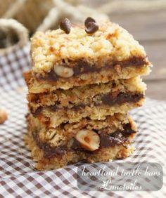 heartland turtle bars-barres chocolat noisette et caramel - Amour de cuisine