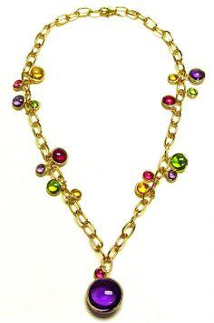Goshwara / Mischief Multi Disc Chain Necklace in 18Y
