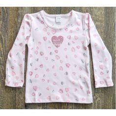Blusinha manga longa corações rosa Baby Classic