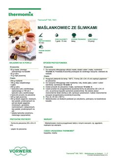 Maslankowiec ze sliwkami Drink Recipe Book, Fitness Gifts, Make It Simple, Food And Drink, Drinks, Cooking, Books, How To Make, Recipes