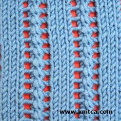 Right side of knitting stitch pattern – Lace 2