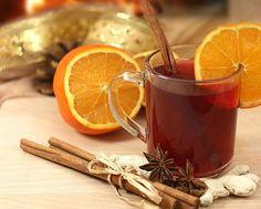 punč Winter Drinks, Orange Oil, Moscow Mule Mugs, Smoothie, Food And Drink, Healthy, Tableware, Hygge, Christmas