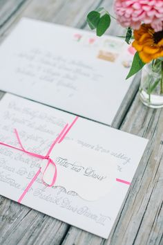 letter-style calligraphy invitations | Aaron & Jillian Photography #wedding