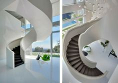 Unique Stairs in a great contemporary home in Bel Air California