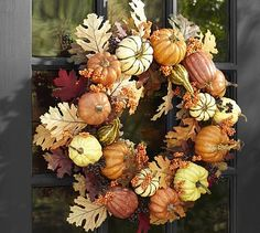 Harvest Pumpkin Wreath #potterybarn