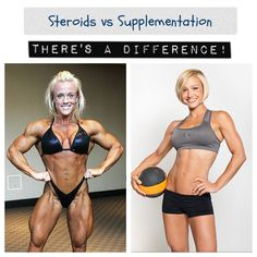 To debunk a myth women are often told, taking nutritional supplements will NOT cause you to bulk up like steroids do. Lifting weights will not cause you to bulk up, but to lean out and look more sculpted.  (theadvochoice.com)