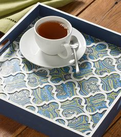 Buttercream™ Stella Collection Tea Tray