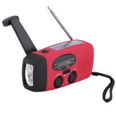 Waterproof Solar Radio Hand Crank Flashlight – Camp Light Club