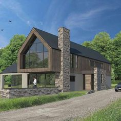 Billis house, contemporary house in Co.Cavan – Craftstudio Architecture Billis house, maison contemporaine dans Co. Cantilever Architecture, Architecture Résidentielle, Enterprise Architecture, Sustainable Architecture, Modern Barn House, Modern House Design, Building Design, Building A House, Cottage Extension