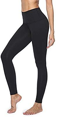ee02a8a6f11 Amazon.com   CLOZZ.U Women s Yoga Pants Workout Leggings High Waisted Tummy  Control Black Capris Pants w Pockets Running Biking Workouts   Sports    Outdoors