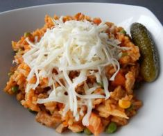 Vepřové rizoto od maminky Easy Cooking, Cooking Recipes, Cabbage, Spaghetti, Food And Drink, Vegetables, Ethnic Recipes, Italian Dishes, Kochen