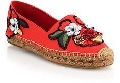 Dolce & Gabbana Locket, Flower & Jewel Embroidered Espadrilles on shopstyle.com