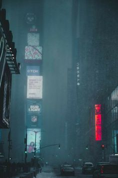 Neon City photographed by Andre Benz in New York, United States. Rain Photography, Street Photography, Neon City, Rpg Cyberpunk, Sf Wallpaper, Travel Photographie, City Rain, City Aesthetic, Night City
