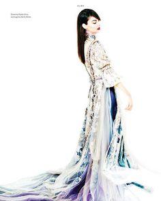"Reem Acra on Instagram: ""Regal Elegance ""Alma"" cover story featuring #ReemAcra in @IrisCovetBook #Eveningwear @haozeng_com, model: @alma_durand"""