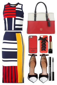 """tommy hilfiger dress"" by faesadanparkaia ❤ liked on Polyvore featuring Tommy Hilfiger, Givenchy, Rebecca Minkoff, Charlotte Russe and Lancôme"