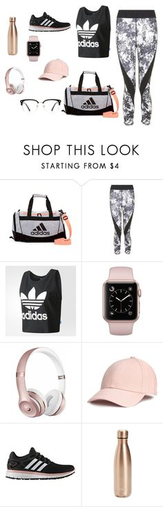 """Untitled #5"" by reddemily ❤ liked on Polyvore featuring adidas, Topshop, Beats by Dr. Dre, S'well and GlassesUSA"