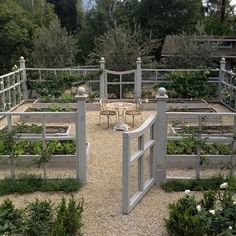 Today we are drilling post holes for our new veggie garden fence and arbour. Hoping it turns out as charming as this beauty. Picture from Pinterest via @velvetandlinen