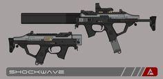 Quicksilver Industries: 'Suricate' SMG by Shockwave9001.deviantart.com on @DeviantArt