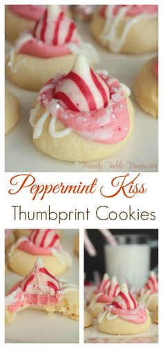 Peppermint Kiss Thumbprint Cookies – Family Table Treasures Peppermint Kiss Thumbprint Cookies – Family Table Treasures,Desserts Peppermint Kiss Thumbprint Cookies – Family Table Treasures Related Pics and Funny Memes to Make You Lol. Valentine Desserts, Valentines Baking, Valentine Cookies, Köstliche Desserts, Holiday Baking, Christmas Desserts, Holiday Treats, Christmas Baking, Holiday Recipes