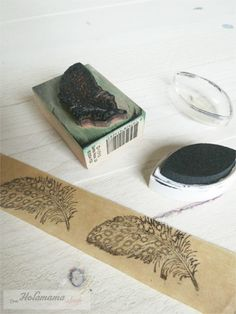 decorative tape with stamps