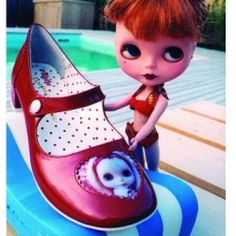 Beautiful Irregular Choice shoes with Blythe on ♥