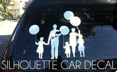 Tutorial about how to make a real life vinyl silhouette for your car's back window instead of stick figures.