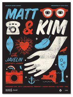 Matt & Kim concert poster by Tad Carpenter