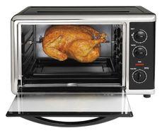 Convection Cooking Oven W/Rotisserie Countertop Non Stick Interior 2 Cook Racks