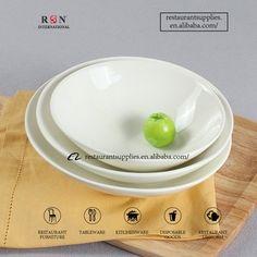 White Ceramic Big Salad Bowl / Porcelain Oblique Bowl Restaurant Supply, Big Salad, Salad Bowls, White Ceramics, Porcelain, Cooking, Porcelain Ceramics, Tableware