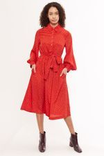 Louche Leonie Double Bud Print Long Sleeve Shirt Dress - Joy the Store Long Sleeve Shirt Dress, Long Sleeve Shirts, Joy The Store, Belt Tying, Fashion Outfits, Womens Fashion, Gifts For Women, Model, Ticks