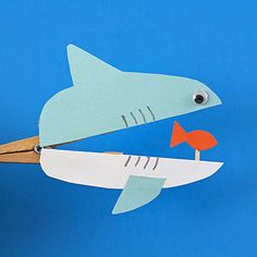 Whether it's Shark Week or just an ordinary Tuesday, this shark craft is fun for kids and makes a great …