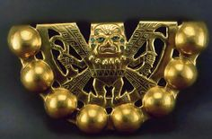 Cascabel de oro, representa a la deidad  Aia Paec (Foto  © Museo Tumbas Reales)